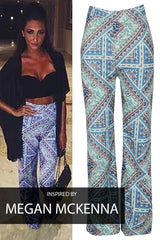Paisley - Celebrity Inspired - Megan Mckenna- Lounge Trousers - Blue Multi