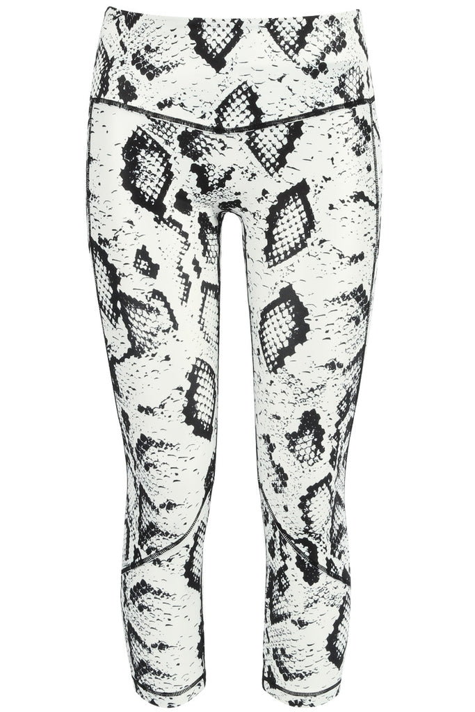 Activewear - Snake Print Cropped Vest Top & Leggings Set - Sportswear