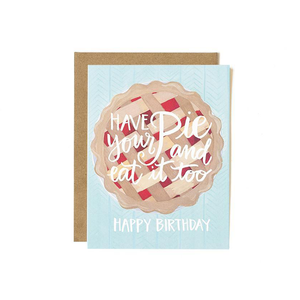 Greeting Card Pie Birthday