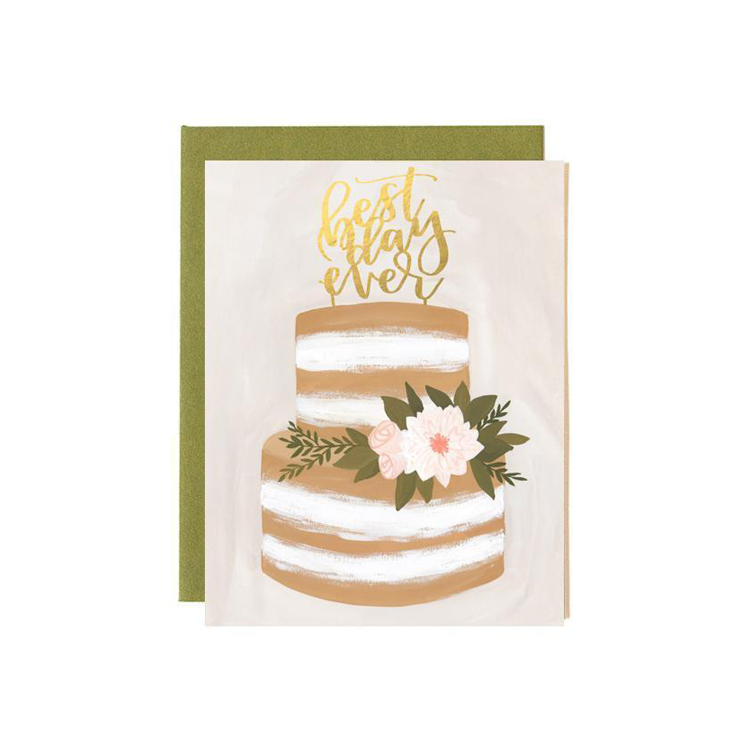 Greeting Card Wedding Best Day
