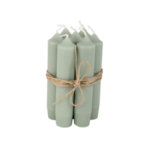 Short Candle Dusty Green