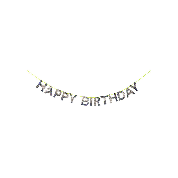 Garland Happy Birthday Gold