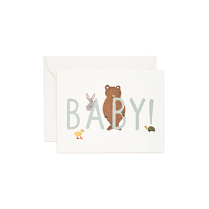Greeting Card Baby Mint
