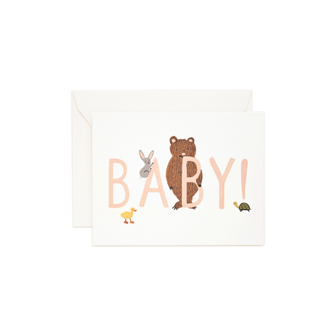Greeting Card Baby Peach