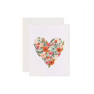 Greeting Card Floral Heart