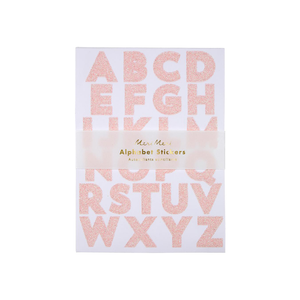Glitter Alphabet Stickers Pink