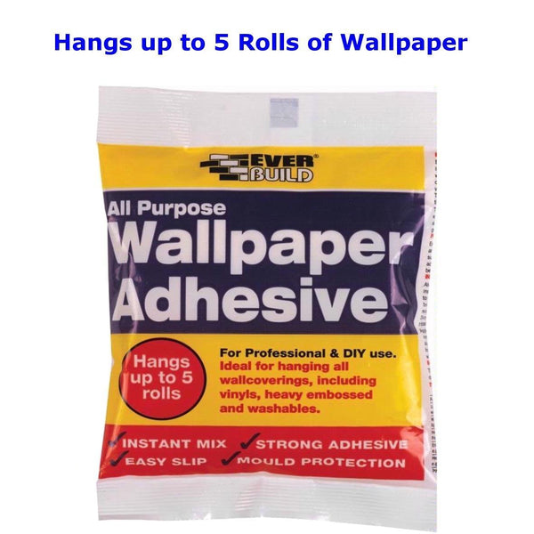 Everbuild All Purpose Wallpaper Adhesive Paste Instant Mix Hangs up to 5 Rolls