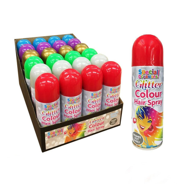 Coloured Hair  Spray Dance Party Wash Out Fancy Dress LARGER 200ml CAN RED