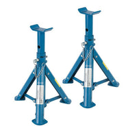 Folding Axle Stand Set 2pc 2-Tonne Car Vehicle Support Mechanics Raised Wheel