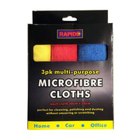 3 x Microfibre Home Kitchen Car Valeting Dusters Polishing Cleaning Cloths New