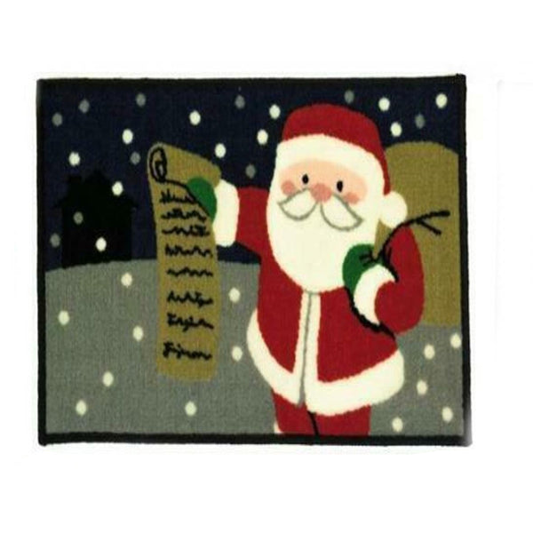 Santa Christmas Machine Washable Door Mat Festive Design 40x60cm