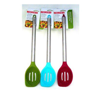 High Quality PEDRINI Stainless Steel & Silicone Slotted Spoons NOUVO