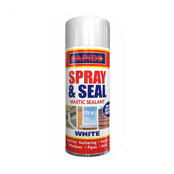 Leak Stop Spray N Seal Pipe Gutter Roof Mastic White Waterproof Sealant