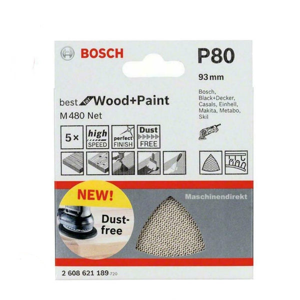 Bosch 2608621189 Sanding Sheets for Triangle Sander m480 F. Wood and Colour Wood