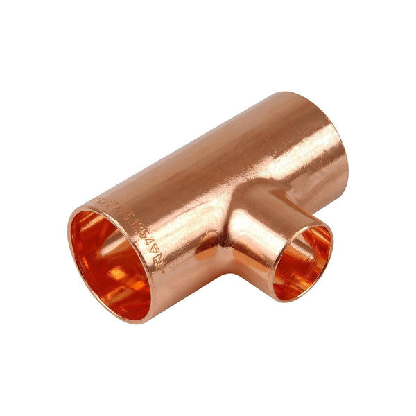 4 x Navigator Copper Fitting Reducing Tee 28 x 28 x 22mm