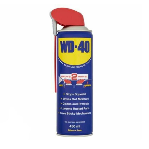 WD40 450ml Smart Straw Multi Purpose Lubricant Sprays Two Ways