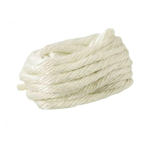 STOVE FIBRE GLASS ROPE 6mm x 5m LOG WOODBURNER SEAL FIRE GASKET LAGGING WHITE