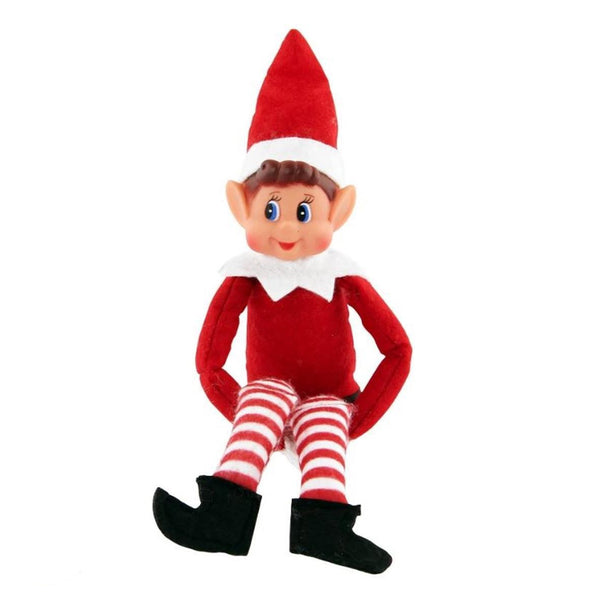 Red Naughty Boy Elf Elves Behaving Badly Xmas Doll Props Shelf Accessories