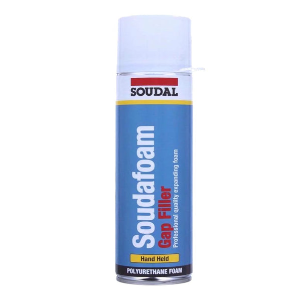 500ML SOUDAL SOUDAFOAM GAP FILLER EXPANDING PU FOAM HAND HELD POLYURETHANE DOOR