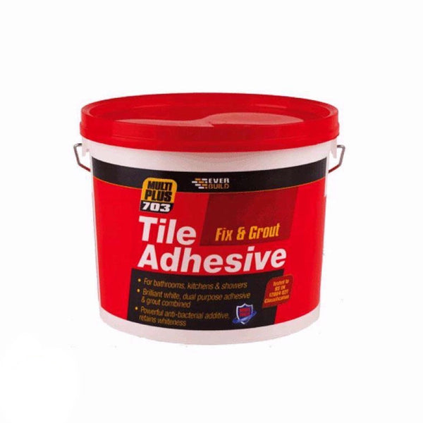 Fix and Grout tile adhesive 1.5KG bathrooms, kitchens & showers wall tiles