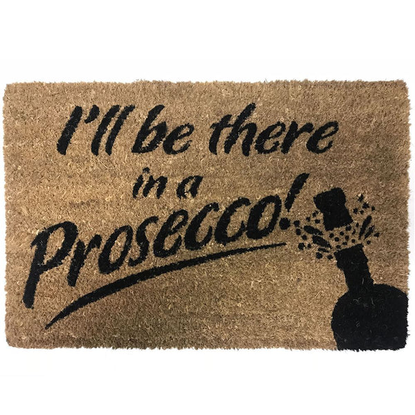 NEW Natural Coir Non Slip Welcome Floor Entrance Door Mat Indoor Outdoor Doormat[Prosecco 40x60cm]