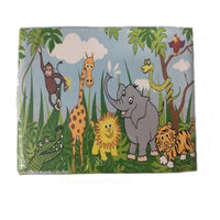 Folding Storage Box Jewellery Memory Organizer 20 X 15 X 15 cm Children's Jungle Design