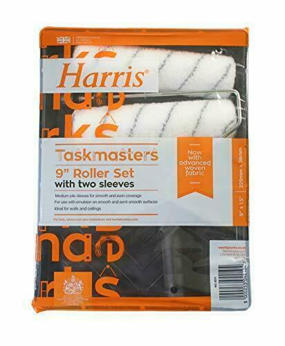 "NEW Harris 4210 Taskmaster Paint Roller And Tray Set 2 Sleeves 9""x 1.5"" Diameter[2X 9"" ROLLER SET]"