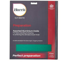 Harris Ultimate Assorted Aluminium Oxide Sandpaper 4 Pack