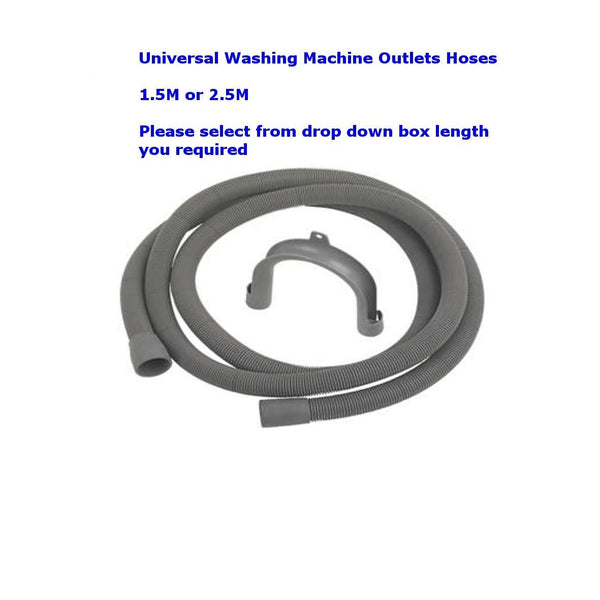 UNIVERSAL WASHING MACHINE DISHWASHER DRAIN WASTE OUTLET EXTENSION HOSE PIPE