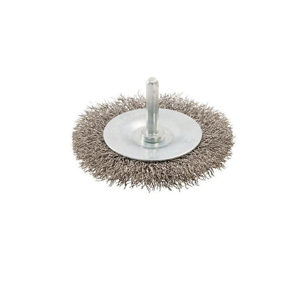 Stainless Steel Bristled Wire Wheel Brushes Cup/Flat Option. Drill Rust Removal[75mm Flat]