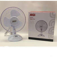 "JEGS Desk Fan 9"" Portable Oscillating Table/Desk Fan 2 Speed Setting 23W White"