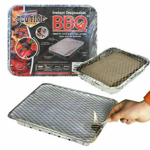 DISPOSABLE INSTANT BBQ TRAY GRILL BARBECUE OUTDOOR CHARCOAL FIRELIGHTERS CAMPING[1 x Instant Light disposable BBQ]