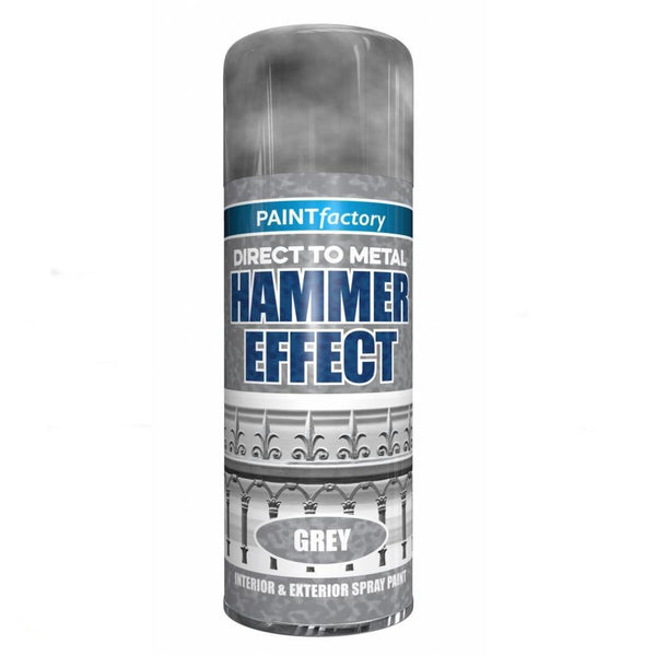 GREY HAMMERED SPRAY PAINT DIRECT TO METAL HAMMER EFFECT 400ML