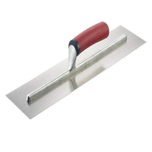 "Marshalltown QLT Soft Grip Finishing Trowel 16 x 4"" Carbon Steel"
