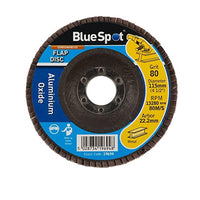 Blue Spot Sanding Flap Disc 115mm 80 Grit