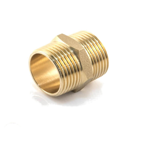 Navigator Brass Threaded Hexagon Nipple Brass - 3/4""