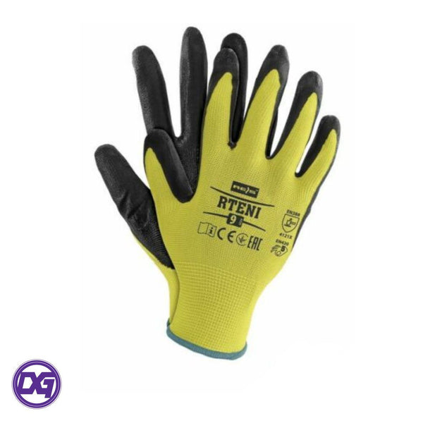 Yellow and Black Firm Grip Gloves MODEL: Grip & Grab size 10