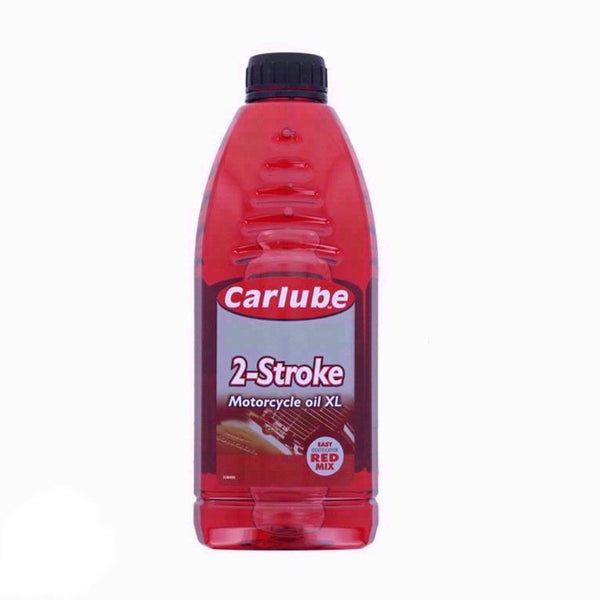 Carlube 2 Stroke Mineral Motorcycle Engine Oil Easy Indication Red Mix - 1ltr