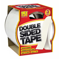 3PK DOUBLE SIDED ADHESIVE STICKY TAPE EXTRA STRONG BONDING 24mm x 10m