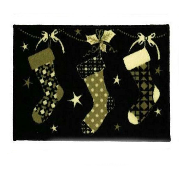 Christmas Stocking Machine Washable Door Mat Floor Entrance Mat 40x60cm