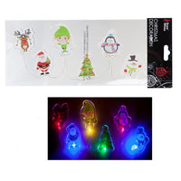 CHRISTMAS PRINTED LIGHT UP GEL WINDOW STICKERS