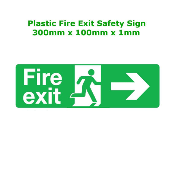 Plastic Fire Exit Signs - Running Man Arrow Right