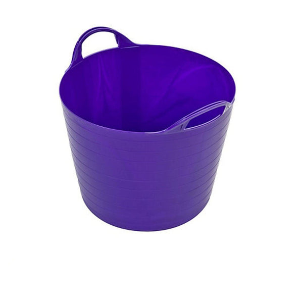 Flexi Tub 14 ltr Flexible, Strong and Lightweight. Horse, Equine, Plaster, Sand[purple]