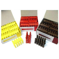 Rawl Wall Plugs. Red, Brown, Yellow. Fixings. Wall. Plastic. Drill Size 5mm-7mm[100 x Yellow Plastic plugs 5mm x 25mm]
