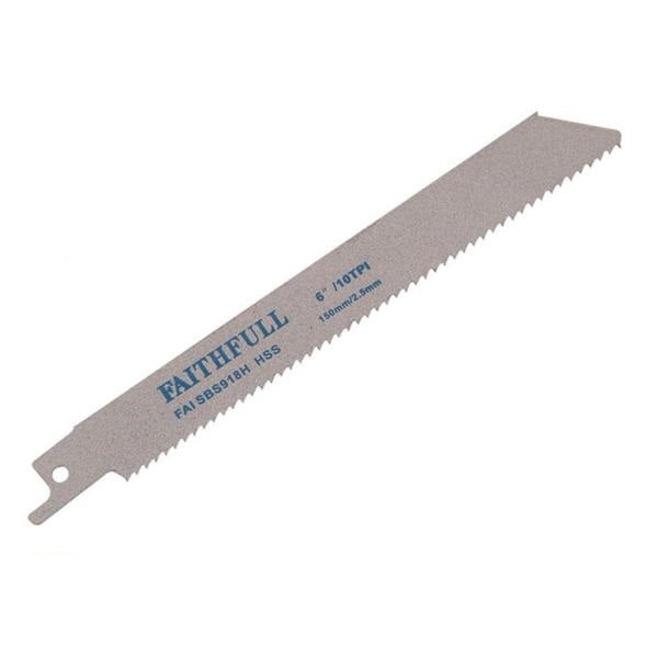 Faithfull Sabre Saw Blades for Cutting Metal - 5 Pack