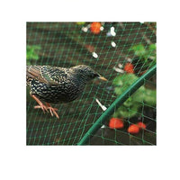 Pack of 4 Green Garden Mesh Netting 2m x 10m Green Plastic Protects Plants and Ponds