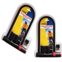 Bicycle Locks x 2, Blackspur Heavy Duty Bike Security Lock With 2 Keys - BARGAIN