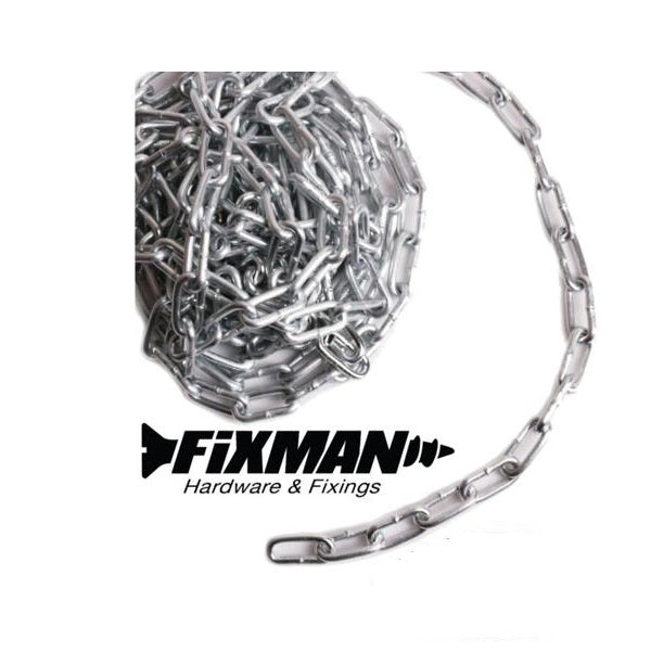 ELECTRO GALVANISED CHAIN 2mm Small Link Light Load Zinc Plated Metal Welded Link