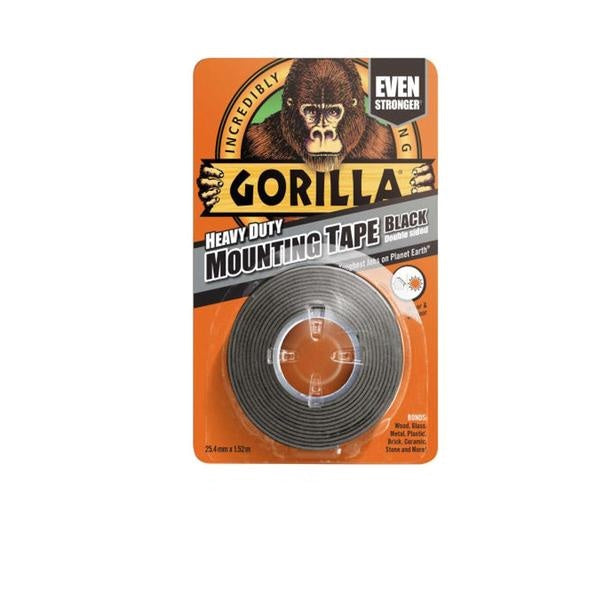 GORILLA GLUE TAPE Tough & Wide Heavy Duty Mounting Tape Black