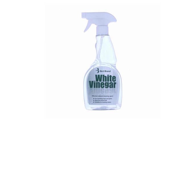 Bird Brand White Vinegar 500ml Spray Limescale Glass Cleaner Stain Remover